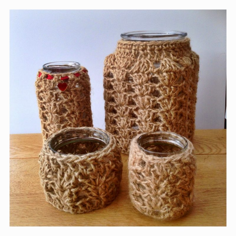 How to: crochet jar covers