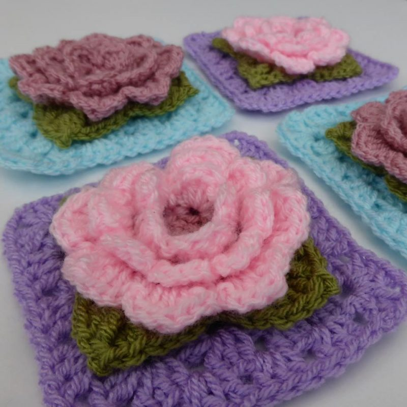 How to: crochet flowers & leaves