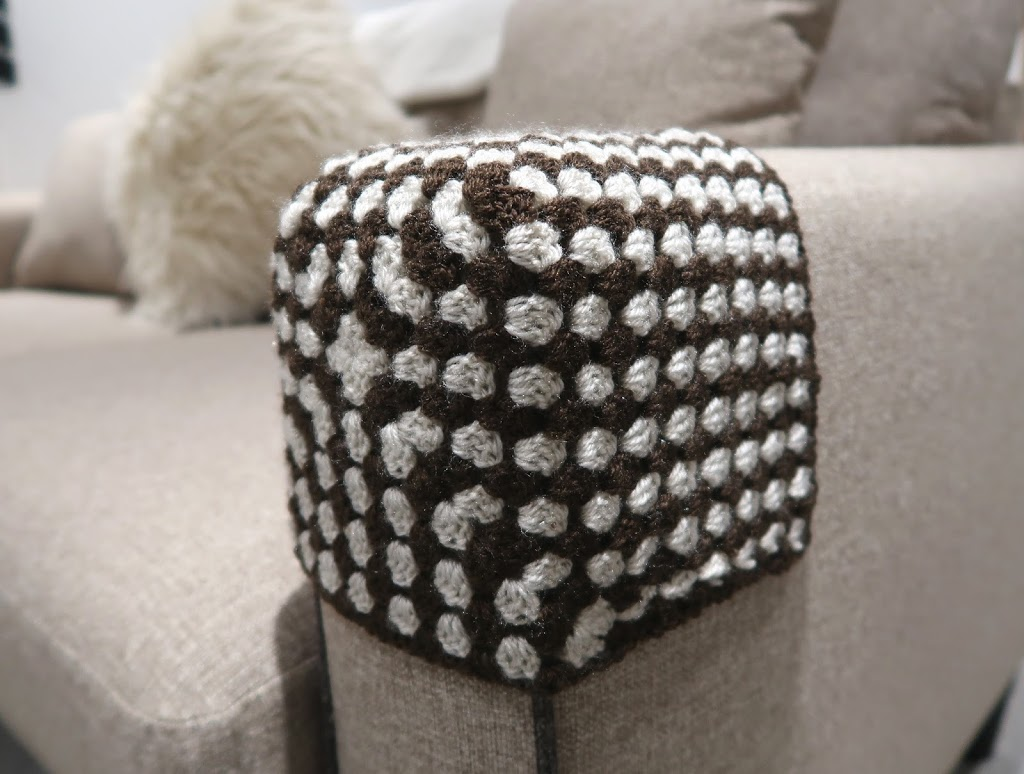 Crochet Sofa arm cover