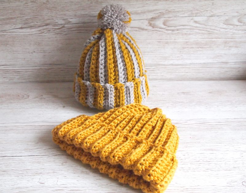 Ribbed Crochet Hat tutorial