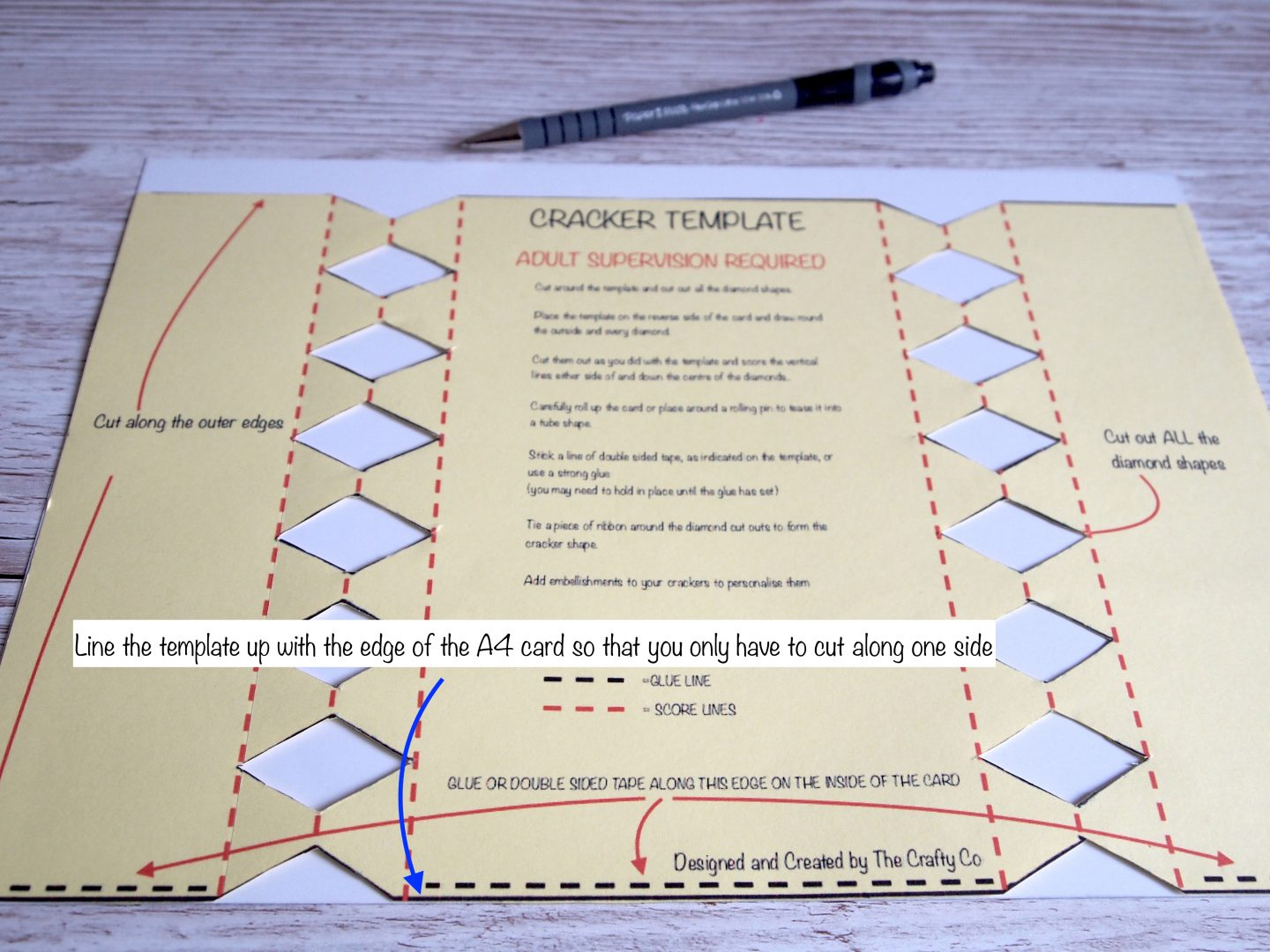 How to cut cracker out cracker template