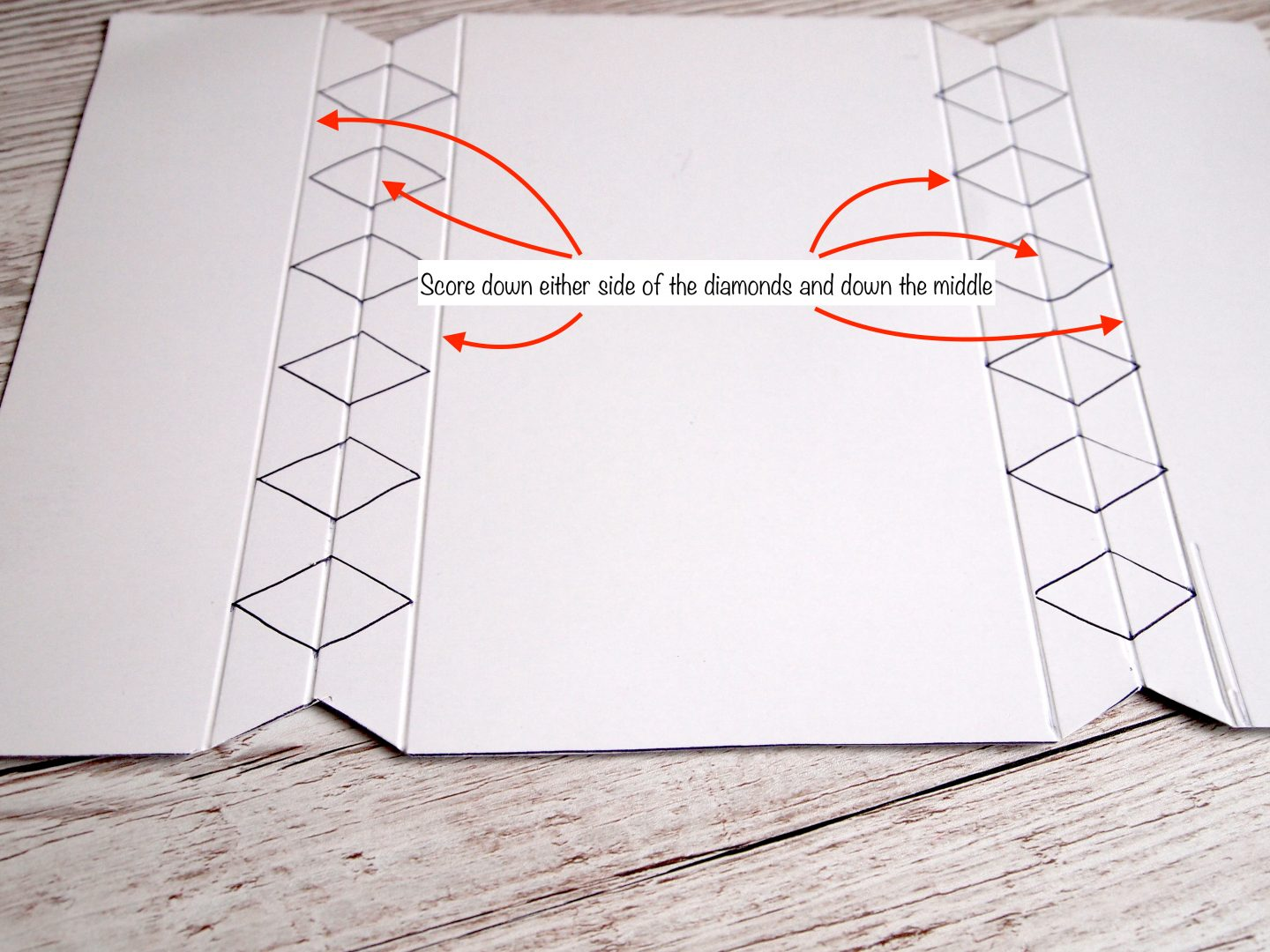 explanation of cutting out make your own cracker template
