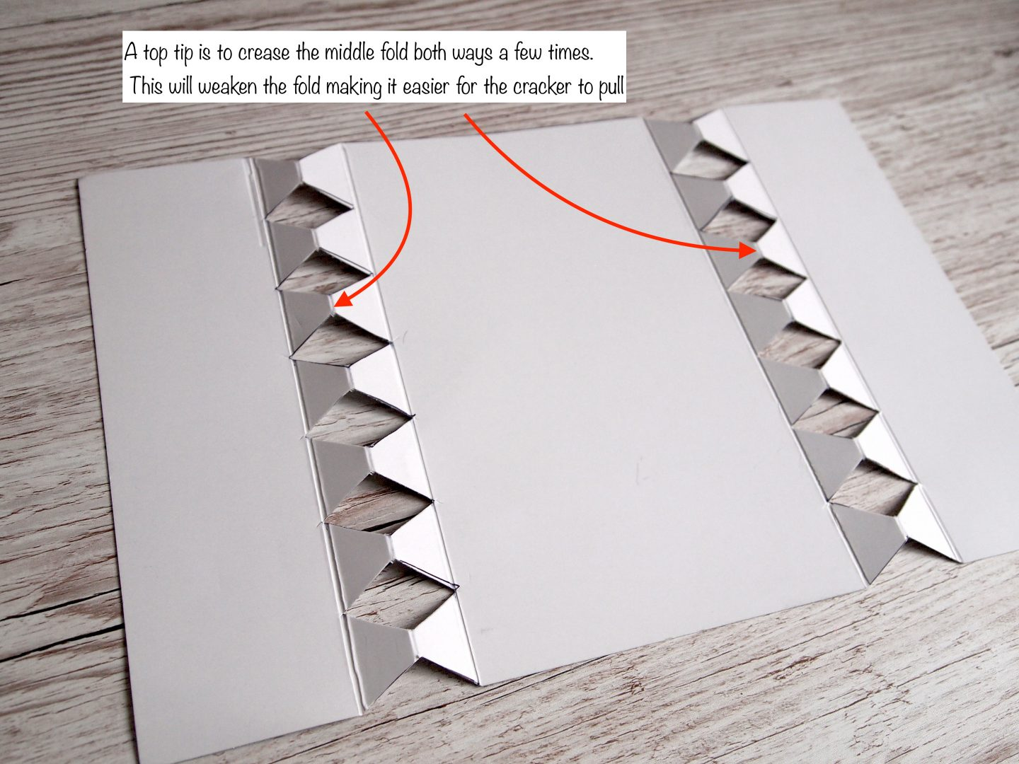 how to cut the make your own cracker template