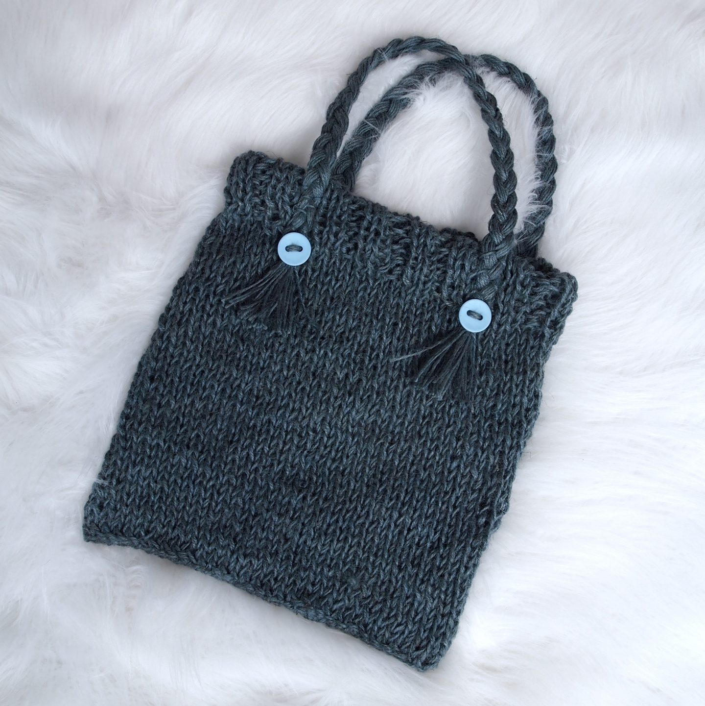 Knitted Jute Tote Bag