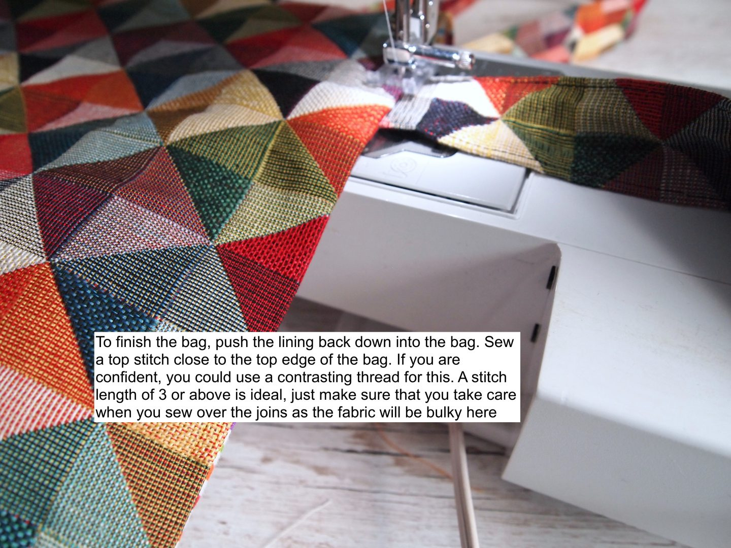 making the tote bag