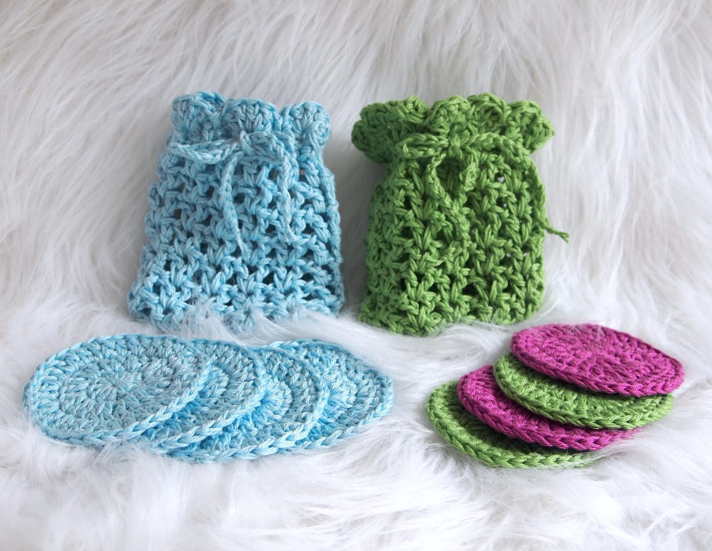 crochet face pad tutorial