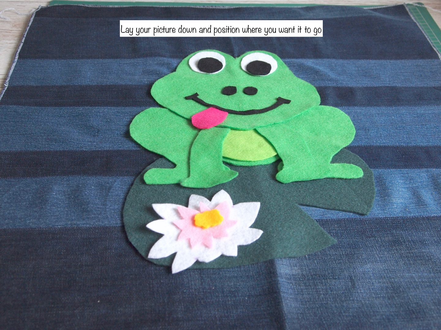 adding picture for recycled canvas art of frog