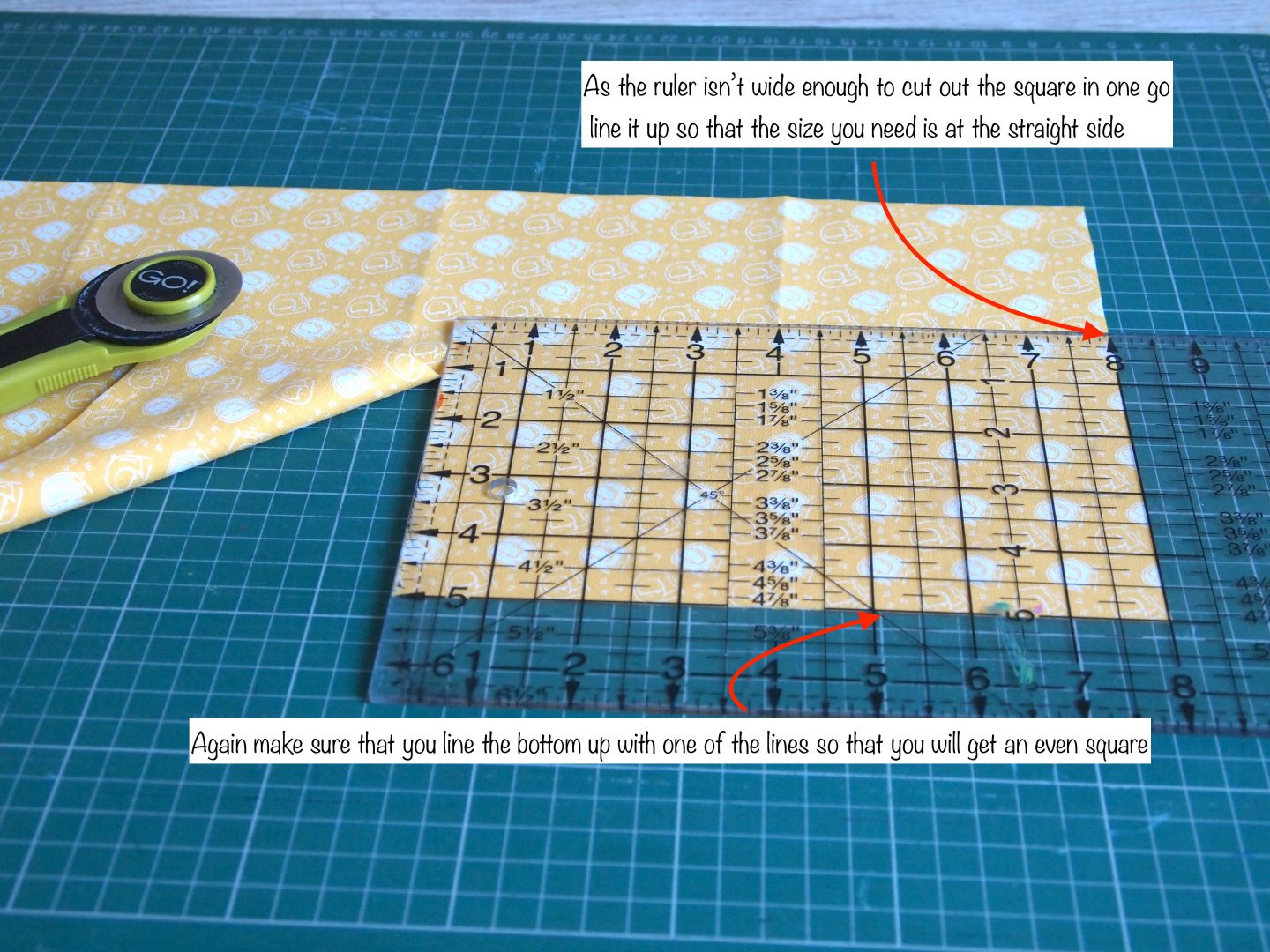 cutting the squares tutorial for patchwork quilt