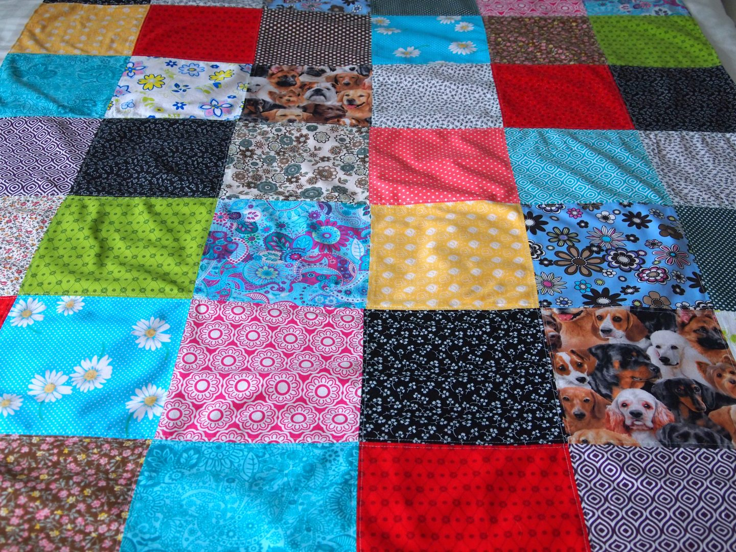 backing the squares on tutorial for patchwork quilt
