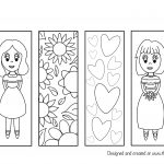 bookmark colouring page
