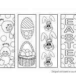 easter bookmark colouring page