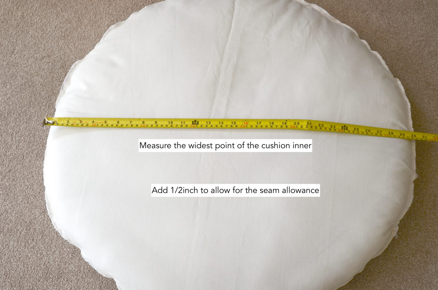 circular cushion cover