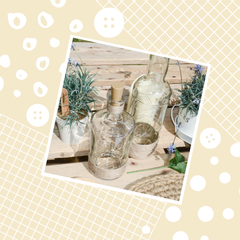 Upcycle Glass Bottle to Rustic Table Chic in Minutes