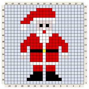 father christmas santa chart crochet